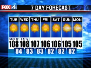 7 Day forecast from a few years ago!