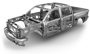 Framework of the 2015 Silverado from chevrolet.com