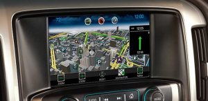 MyLink navigation with 3D maps.